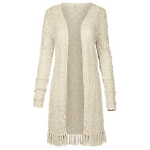 Buy Fat Face Buriton Edge To Edge Pointelle Cardigan Online at johnlewis.com