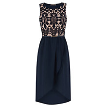 Buy Oasis Two in One Petal Dress, Navy Online at johnlewis.com