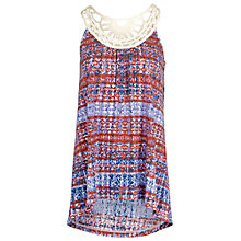 Buy Fat Face Macrame Batik Floral Cami, Navy Online at johnlewis.com