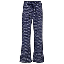 Buy Fat Face Batik Geo Printed Wide Leg, Navy Online at johnlewis.com