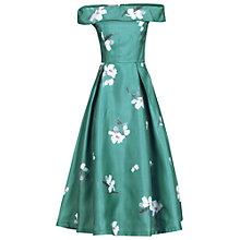 Buy Jolie Moi Floral 3D Bardot Dress, Teal Online at johnlewis.com