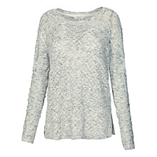 Buy Fat Face Harlym Stitch Jumper, Powder Online at johnlewis.com