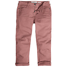 Buy Fat Face Garment Dye Capri Trousers, Rosebud Online at johnlewis.com
