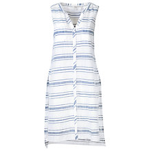 Buy Fat Face Hettie Super Longline Striped Vest, White Online at johnlewis.com