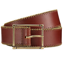 Buy John Lewis Millie Leather Belt, Brown Online at johnlewis.com