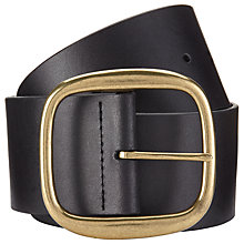 Buy John Lewis Samantha Oversize Leather Belt, Black Online at johnlewis.com
