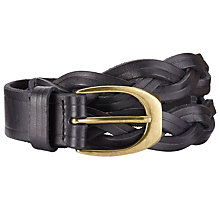 Buy John Lewis Monica Plait Leather Belt Online at johnlewis.com