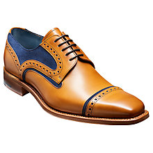 Buy Barker Haig Cedar Toe Cap Derby Shoes, Cedar Online at johnlewis.com