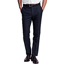 Buy Thomas Pink Upton Wool Check Trousers, Navy Online at johnlewis.com