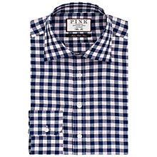 Buy Thomas Pink Porter Check Slim Fit Linen Blend Shirt Online at johnlewis.com