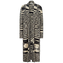 Buy Oui Space Dye Longline Cardigan, Black/White Online at johnlewis.com