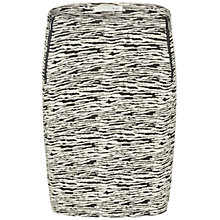 Buy Oui Textured Zip Detail Skirt, Black/White Online at johnlewis.com