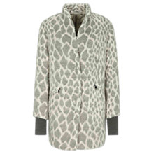 Buy Oui Snow Leopard Coat, Off White/Grey Online at johnlewis.com