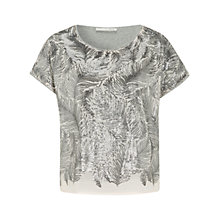 Buy Oui Fern Sequin Top, Rose Grey Online at johnlewis.com