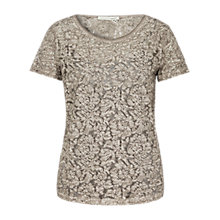 Buy Oui Double Layer Lace Top, Moonrock Online at johnlewis.com