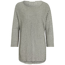 Buy Oui Ribbed Longline Jumper, Light Grey Online at johnlewis.com