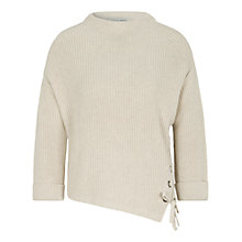 Buy Oui Eyelet Detail Ribbed Jumper, Off White Melange Online at johnlewis.com