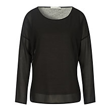 Buy Oui Double Layer Tunic Top, Black/Grey Online at johnlewis.com
