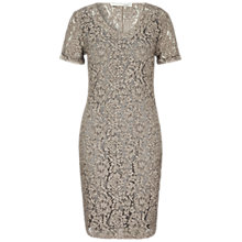Buy Oui Double Layer Lace Dress, Moonrock Online at johnlewis.com