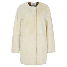 Buy Oui Reversible Faux Shearling Coat, Pristeen Online at johnlewis.com