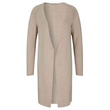 Buy Oui Ribbed Longline Cardigan, Light Stone Online at johnlewis.com