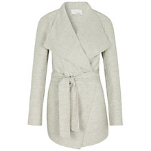 Buy Oui Wool-Blend Belted Coat, Light Grey Online at johnlewis.com