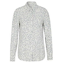 Buy Oui Leopard Print Shirt, White/Grey Online at johnlewis.com