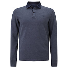 Buy Gant Soft Heather Heavy Rugger Long Sleeve Rugby Top, Thunder Blue Online at johnlewis.com
