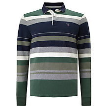 Buy Gant Multi Stripe Rugby Shirt, Green Online at johnlewis.com