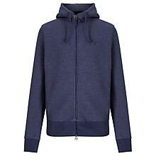 Buy Gant Shearling Full Zip Sweat Hoodie, Persian Blue Online at johnlewis.com