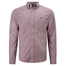 Buy Gant Oxford Gingham Shirt, Thunder Red Online at johnlewis.com