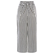 Buy Karen Millen Soft Stripe Trousers, Black/White Online at johnlewis.com