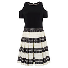 Buy Karen Millen Devore Stripe Dress, Black/White Online at johnlewis.com