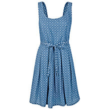 Buy Fat Face Kirsty Geometric Dress, Chambray Online at johnlewis.com