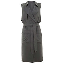 Buy Mint Velvet Sleeveless Trench Coat, Khaki Online at johnlewis.com
