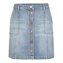 Buy Fat Face Carrie A-Line Mini Skirt, Light Denim Online at johnlewis.com