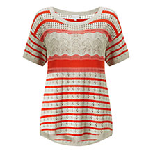 Buy East Pointelle Stripe Jumper, Multi Online at johnlewis.com