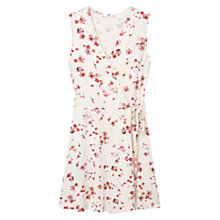 Buy Mango Floral Belt Wrap Dress, Natural White Online at johnlewis.com