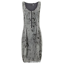 Buy Mint Velvet Corinne Print Cocoon Dress, Grey Online at johnlewis.com