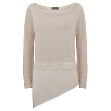 Buy Mint Velvet Asymmetric Tail Knit, Pale Pink Online at johnlewis.com