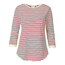 Buy Fat Face Taunton Boat Neck T-Shirt, Cardinal Red Online at johnlewis.com