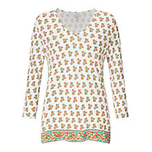 Buy East Jasmine Print V Neck Top Online at johnlewis.com