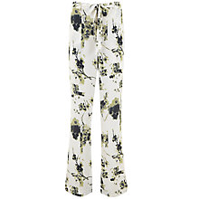 Buy Mint Velvet Elle Print Soft Flare Trousers, Multi Online at johnlewis.com