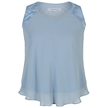 Buy Chesca Chiffon Camisole Top, Powder Blue Online at johnlewis.com