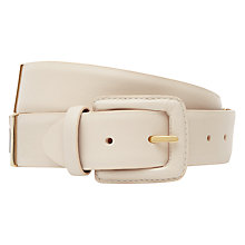 Buy Reiss Leather Joni Wide Hinged Belt, Nude Online at johnlewis.com