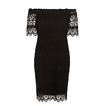Buy Velvet Gustina Dress, Black Online at johnlewis.com