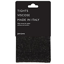 Buy John Lewis Semi Sparkle Opaque Tights, Black/Silver Online at johnlewis.com