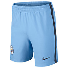 Buy Nike 2016/17 Manchester City Home Boys' Football Shorts, Blue Online at johnlewis.com