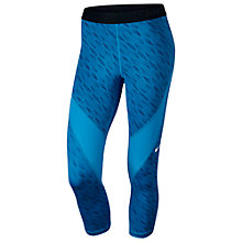 Buy Nike Pro Hypercool Capri Running Tights, Photo Blue/Deep Royal Blue Online at johnlewis.com