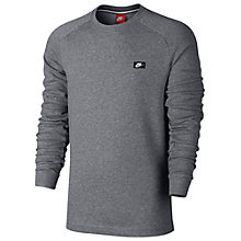 Buy Nike Sportswear Modern Crew Training Top, Carbon Heather Online at johnlewis.com